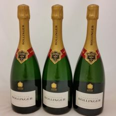 Bollinger Brut 'Spécial Cuvée' Champagne - 3 bottles (75cl) each in individual giftbox