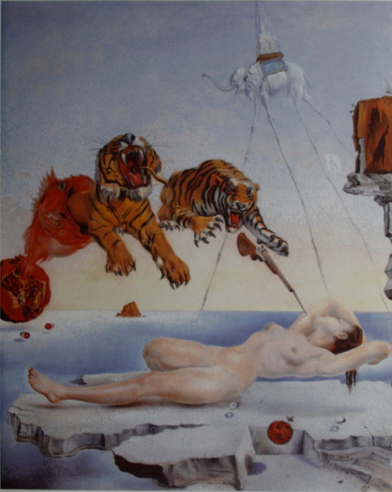 Salvador Dalí (after) - Dream Caused by the Flight of a Bee