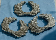 3 x German Officers Cap Wreaths