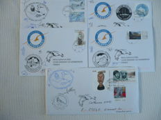 Greenland 1992/2016 – Lot of envelopes from Arctic and Antarctic expeditions.