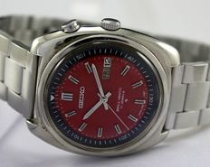 "Seiko ""Bellmatic"" (Alarm) Red Men's Wristwatch - circa 1970s"