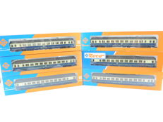"Roco H0 - 6-piece passenger train beige/blue ""IC"" from the DB [483]"