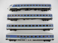 "Fleischmann H0 - 5175/4/-79/-77 - 4-piece passenger train ""IC"" of the DB in blue/white with main coach and Bistro coach [514]"