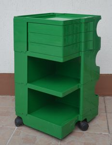 Joe Colombo for Bieffeplast - Boby - Cart container - Green colour (RARE)