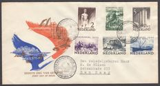 The Netherlands 1950 - FDC Summer stamps - NVPH E1a, with inspection certificate