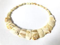 Genuine Baltic Amber butter colour necklace,  18 gr.