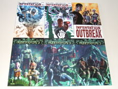 IDW Publishing - Infestation Trade Paperbacks - Volumes 1, 2 & 3 + Infestation 2 Trade Paperbacks - Volumes 1, 2 & 3 - 6x sc - 1st Edition - (2011)