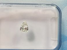 Pear cut diamond 0.17ct.  RW G  VVS1 with HRD certificate