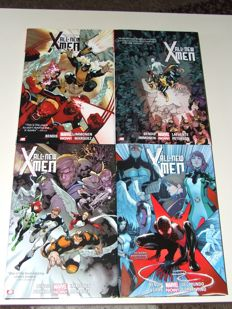 Marvel - All New X-Men Deluxe Edition Volumes 1, 2, 3 & 4 - 4x Oversized  HC With Dust Jacket - 1st Edition - (2014)