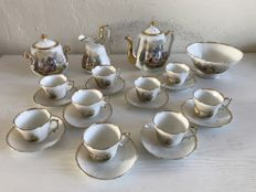 Thirteen-piece porcelain coffee set