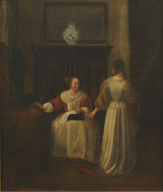 Unknown (19th century)  - Twee vrouwen in interieur