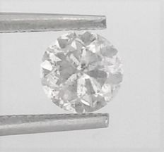 Diamond Of Round Brilliant Cut  - 1.11 carat - D color - I1 clarity - AIG Certificate