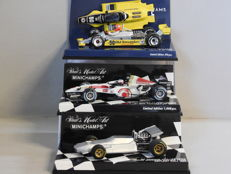 Minichamps - Scale 1/43 - Lot with 3 sports car models: De Tomaso, Honda F1 & Williams Ford