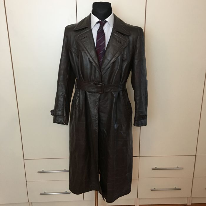 Unique Item – 100% Real Leather Long Coat - No Reserve!!!