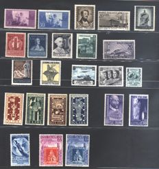 Italian Republic - Selection of stamps from the era