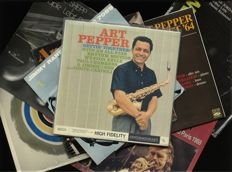 Lot of six fantastic Bop-Jazz albums including Art Pepper (2), Archie Shepp (2), Jimmy Raney, Trickles (Steve Lacey, Roswell Rudd), Duke Jordan Trio and Archie Shepp and Chet Baker alltogether