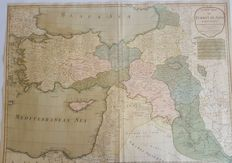 Turkey; Laurie & Wittle - A New Map of Turkey in Asia - 1794