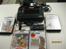 Sega Master system 2 including controller and 4 boxed games like: Ace of aces, Mickey Mouse,Chess, GP racing.