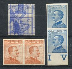 Italy, Kingdom - selection of three values with variations