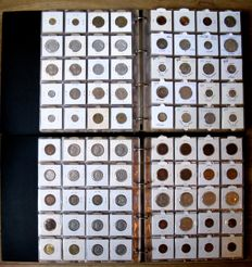 Europe - Collection of various coins, 1863/1994 (780 different coins), including 16x silver, in two albums.