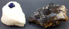 Beautiful lot of Natural Fluorite and Lazurite crystals - 470 gr (2)