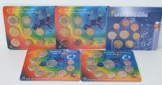 Spain – Year sets 1999, 2000, 2002, 2009 and 2011 (5 different sets)