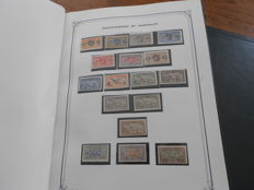 French ex-colonies 1910/1970 – Collection on sheet of album including Saint Pierre and Miquelon.