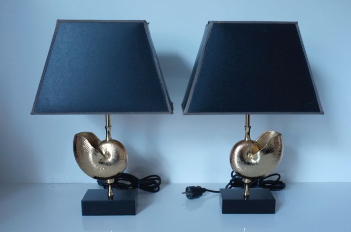 Unknown designer - Set of Nautilus lamps - in the style of Maison ...