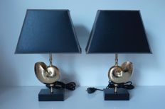 Unknown designer - Set of Nautilus lamps - in the style of Maison Charles