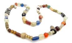 Medieval Period Glass Beaded Necklace - 500 mm