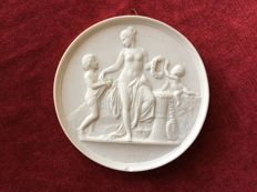 Bertel Thorwaldsen - Relief in biscuit porcelain: ' spring '