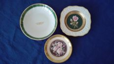 Trio of pocket emptiers in Bavaria and Limoges porcelain