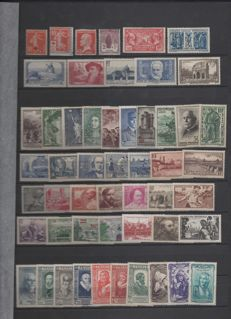 France 1914-1959 - Selection of stamps