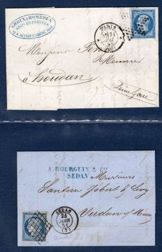 France 1845/1880 - Set of Old Letters Including National Assembly Seal