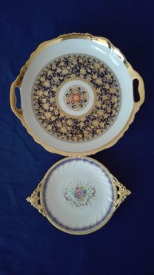 "Two pocket eptiers ""Royal China"" ""area"" in 24/22 kt gold laminate"