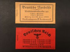 German Empire 1931/1939 - stamp booklets - Michel 30.2 + 37.1 ONR.5