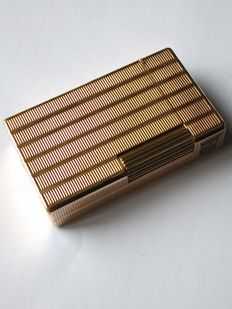 Lighter S.T.  Dupont large model line 1 BR gold plated near mint