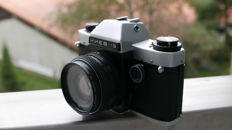 KIEV 19 with Helios 81H 2/50 (NIKON F), with case. in good condition . works well