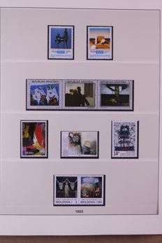 Europa Stamps 1993/2000 - Collection of Lindner Falzlos T-type preprinted albums