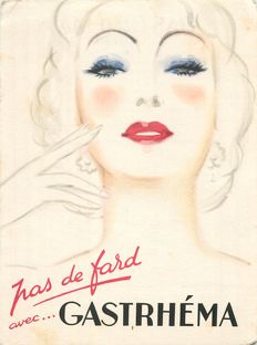 Advertising - advertising cards of the 1950s - some are signed by illustrators of the time / Naudin, Bouillon, Enqolman's, Gabutti, Bob,