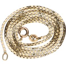 14 kt yellow gold Venetian link necklace - length: 42 cm
