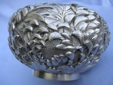 Sugar bowl in silver 925 - Japan 19th century, Maiji era 1868/1912