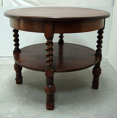 Solid oak coffee table, Netherlands, first half 20th century