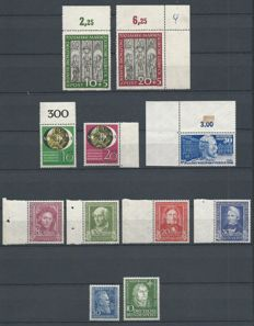 Federal Republic of Germany 1949/1951 - Selection - Michel 116, 117/120, 139/140, 147, 149
