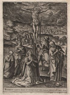Johannes  Wierix ( 1539--1620 ) - Christ on the Cross - Ca. 1580/1600