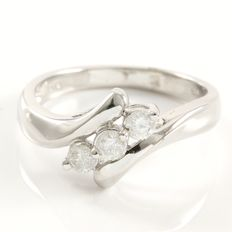 14kt White Gold Ring Set With 0.30 ct Natural Diamonds - 7