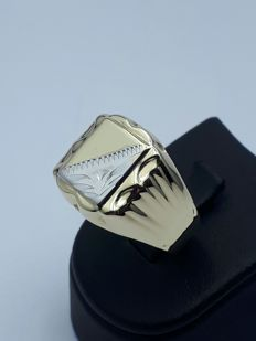 14 k Gold man's Ring - 20.5 mm - 4.01 g - no reserve price