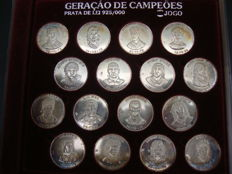 Silver Coins Collection 925 - Major Futebol Players in Portugal