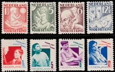 The Netherlands 1930/1931 - Children Stamps, syncopated  perforation - NVPH R86/R89 and R90/R93