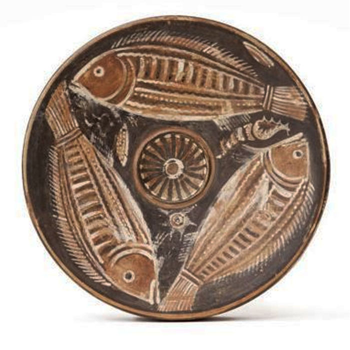 Greek dish with fish, 195 x 59 mm